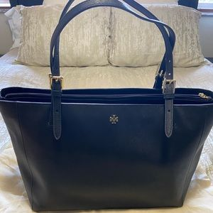 Tori Burch York Tote Large Black with dust bag